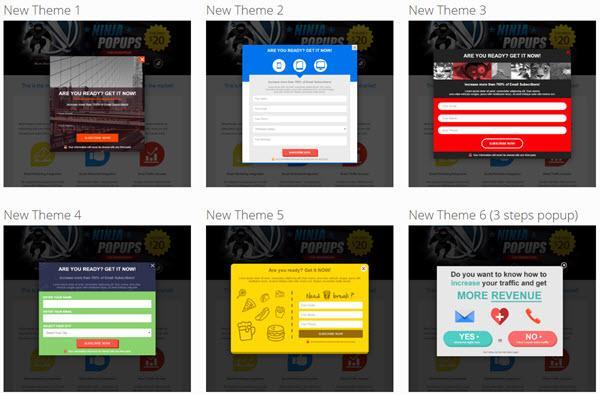 Ninja Popups email subscription plugin wordpress
