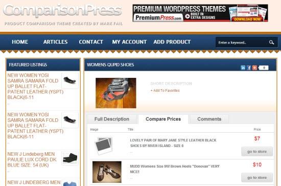 Price Compare WordPress Theme for Affiliates