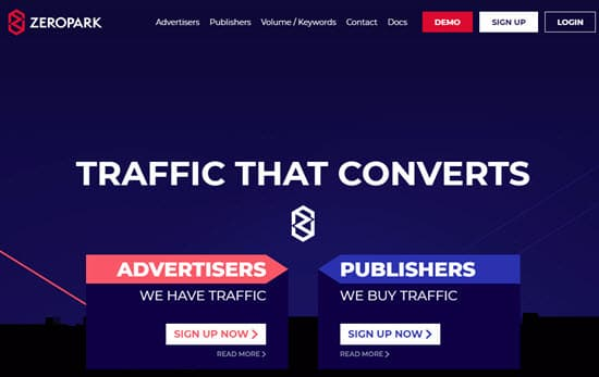 ZeroPark PPV Ad Network