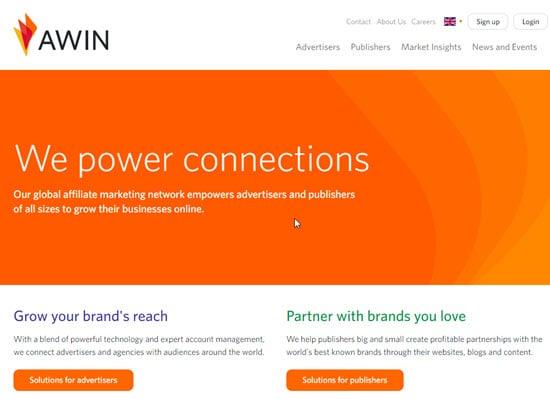 Awin Cost Per Sale Affiliate Network