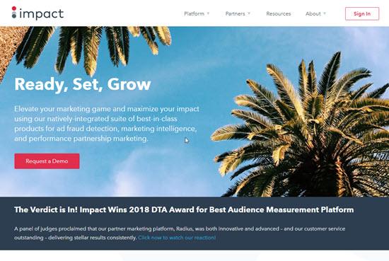 Impact Cost Per Sale Affiliate Network