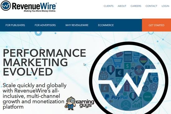 RevenueWire Cost Per Sale Affiliate Network
