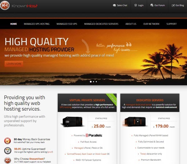 KnownHost VPS Hosting Review
