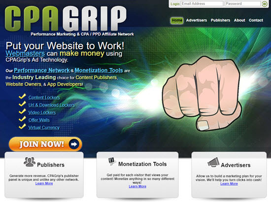 CPAGrip PPD Networks - Pay Per Download
