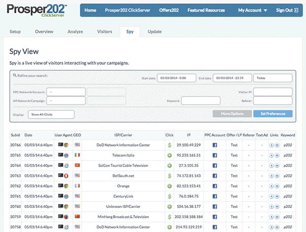 Prosper202 Affiliate Tracking Software