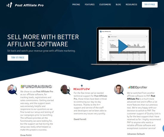 Post Affiliate Pro Affiliate Software