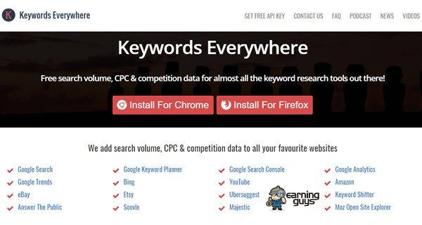 Keywords Everywhere Keyword Research Tool
