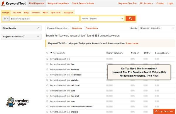 Keyword Tool Keyword Research Tool