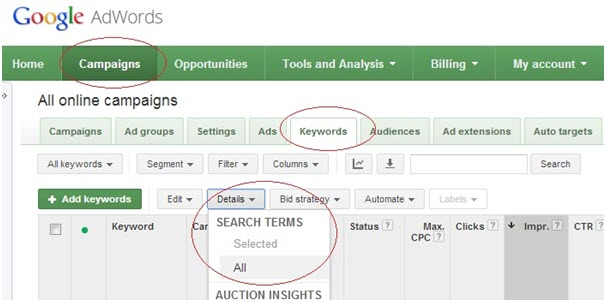 AdWords Search Term
