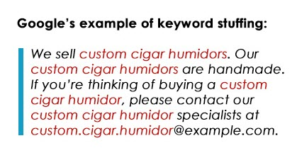 stuff keywords On Page SEO