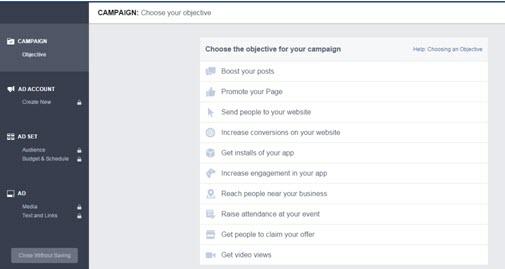 Facebook Advertisement Setup