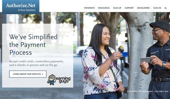 Authorize.Net Payment Process