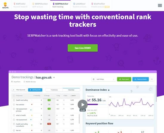 SERPWatcher Website Rank Tracker Tool