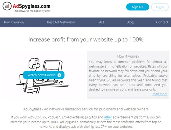 AdSpyglass Popunder Ad Network