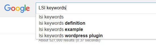 Google Auto Complete LSI Keywords Finder