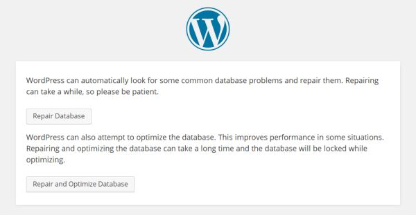 Repair WordPress Database