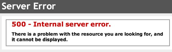 Fix 500 Internal Server Error