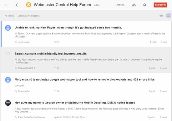 Google Webmaster Central Help