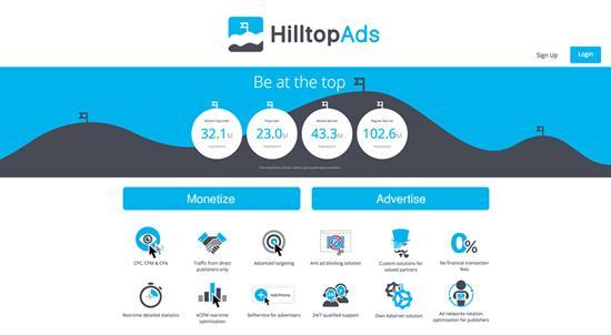 HillTopAds Display Ads CPM