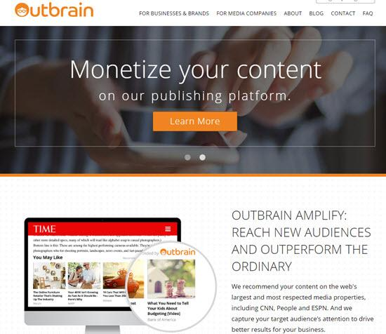 Outbrain Native Ad Networks