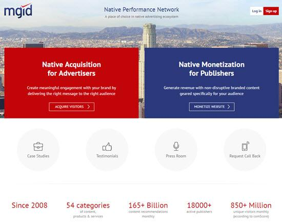 MGID Native Ad Networks