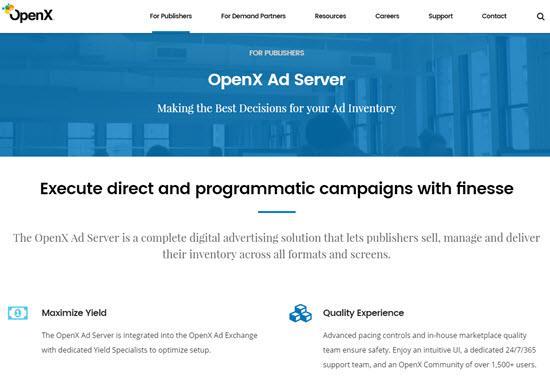 OpenX Ad Server Ad Servers