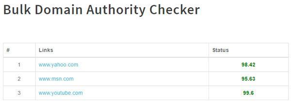 Bulk DA Checker - Domain Authority Checker Tools