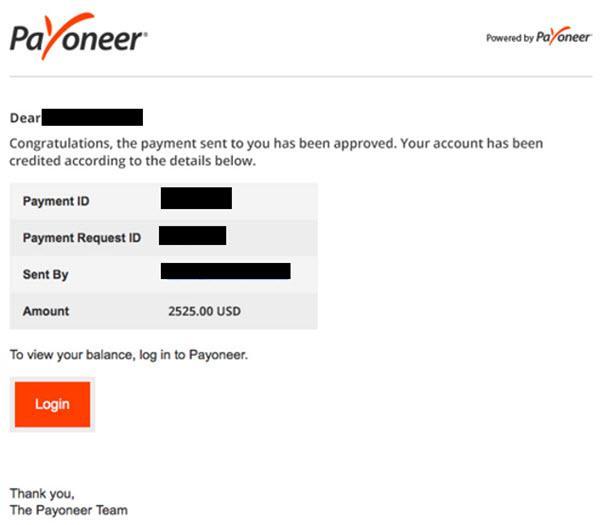 Payoneer Payment