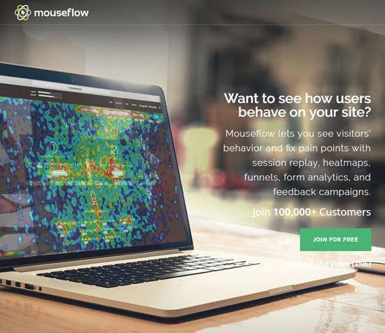 Mouseflow Heat Map Tools