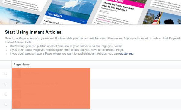 Facebook Instant Articles Setup