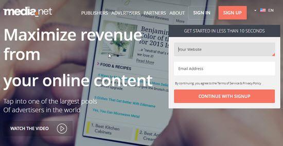 Media.net CPC Ad Network