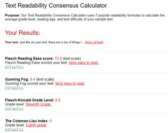 Automatic Readability Checker