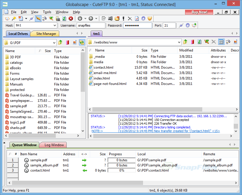 CuteFTP FTP Clients