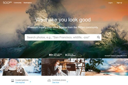 500px Sell Photos Online