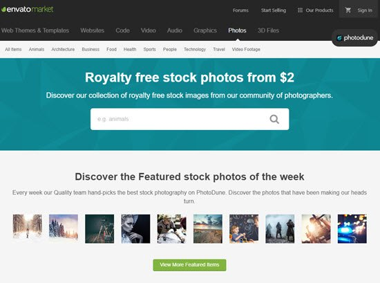 PhotoDune Sell Photos Online