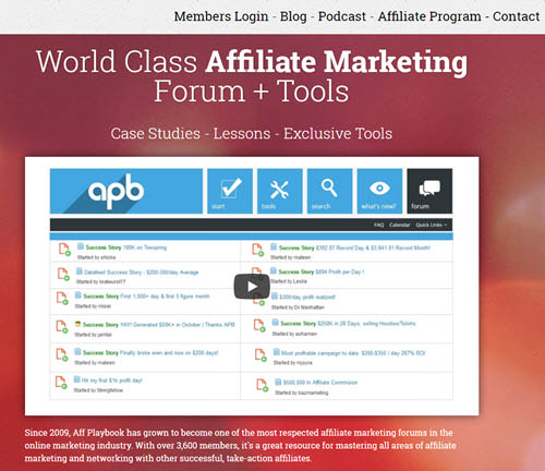 Aff Playbook Affiliate Forum