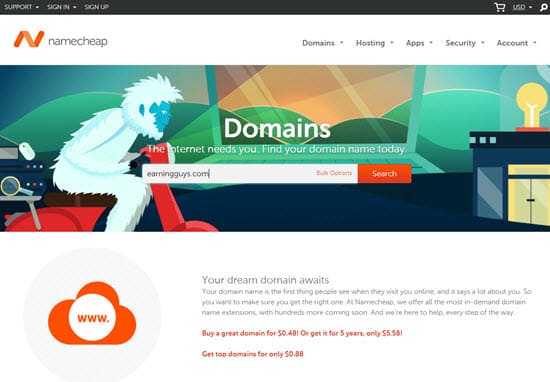 Namecheap Cheap Domain Names