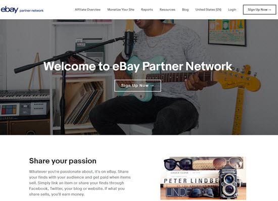 eBay Partner Network Affiliate Programs