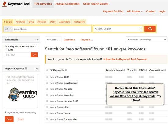 Keyword Tool Best Keyword Research Tool