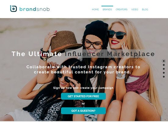 Brandsnob Influencer Marketplace