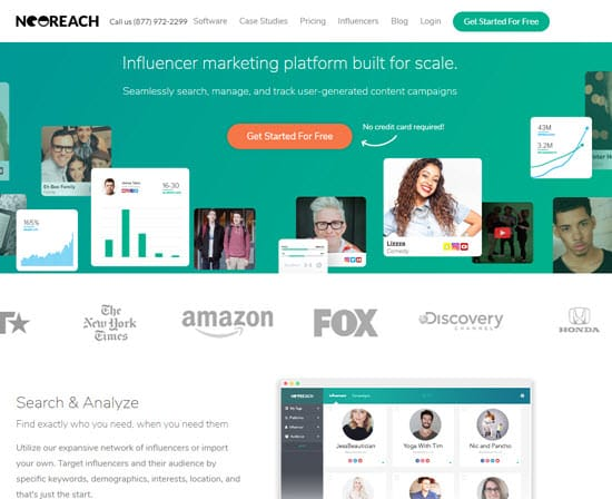 NeoReach Influencer Marketing Tool