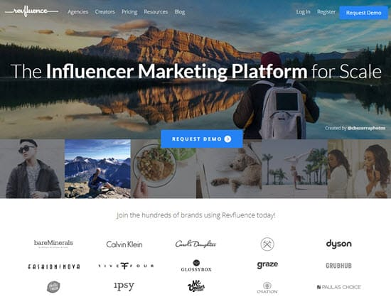 Revfluence Influencer Marketing Tool