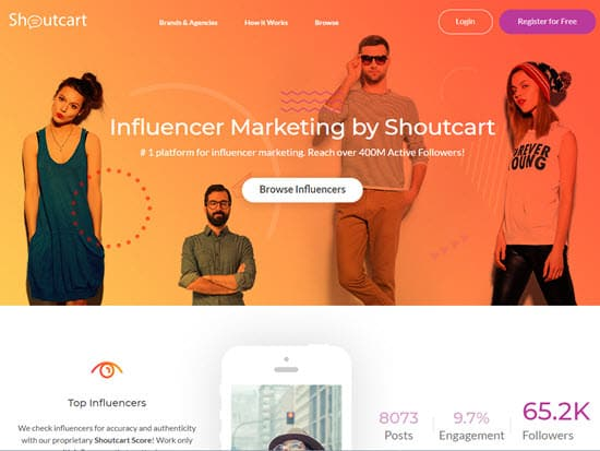 Shoutcart Influencer Marketing Tool