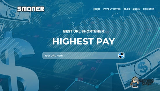 Smoner URL Shortener Website