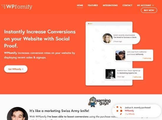 WPfomify Social Proof WordPress Plugin