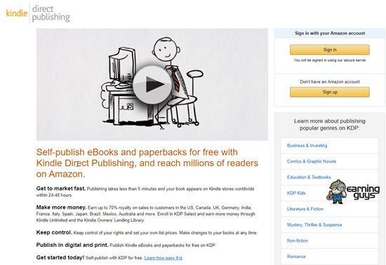 Become Kindle Author to Make Money Writing