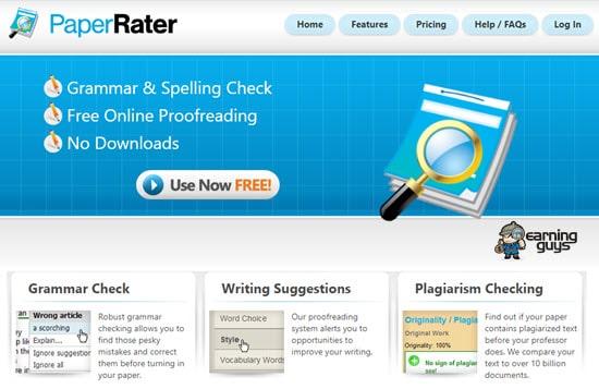 Paper Rater Grammar Checker