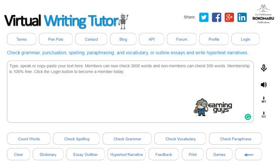 Virtual Writing Punctuation Checker