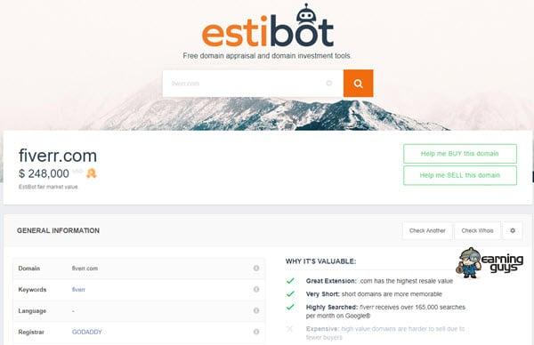 Estibot Domain Name Appraisal