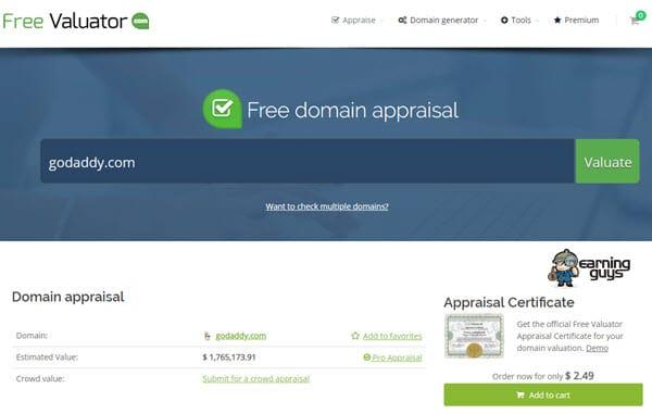 Free Valuator Domain Name